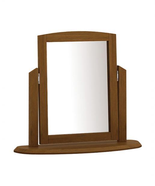 Gương bàn trang điểm Orbit Walnut - Gỗ dẻ gai tự nhiên