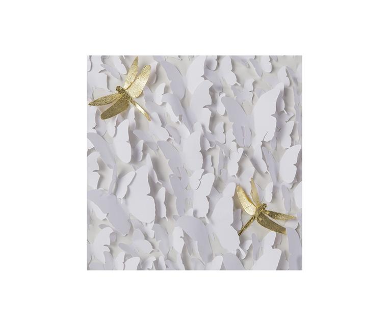 Tranh Butterflies & Dragonflies White