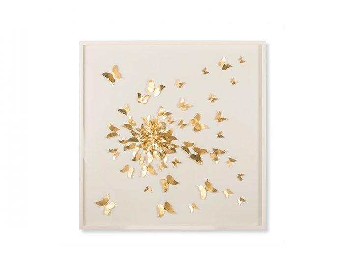 Tranh Butterflies Gold