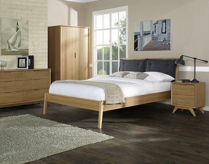 Ngăn kéo dưới giường Milano Bedroom - Gỗ sồi trắng Mỹ