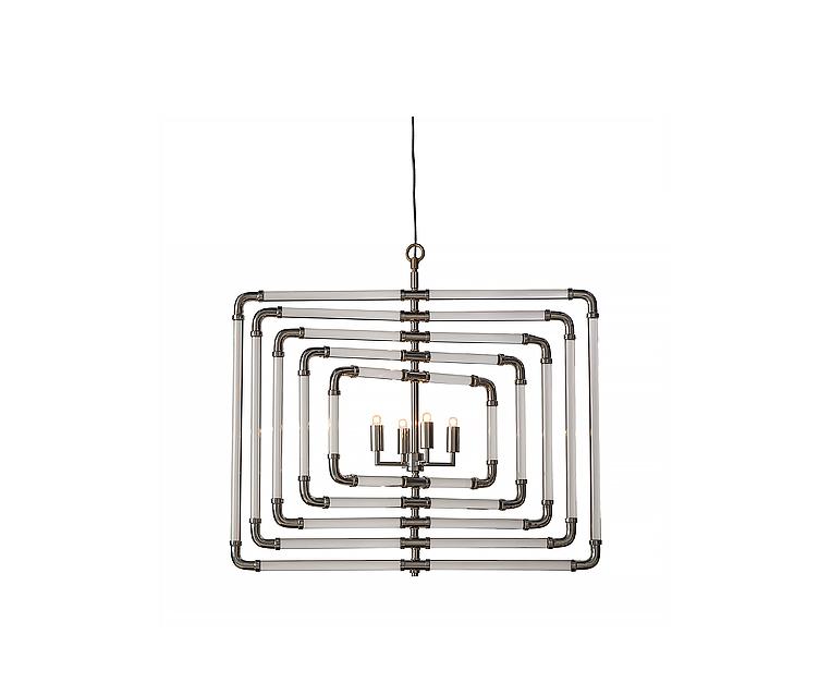 Đèn trần Spiral - Nickel - 5 Lớp