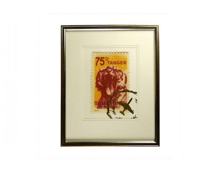 Tranh Postage Stamp Tangier Tiger
