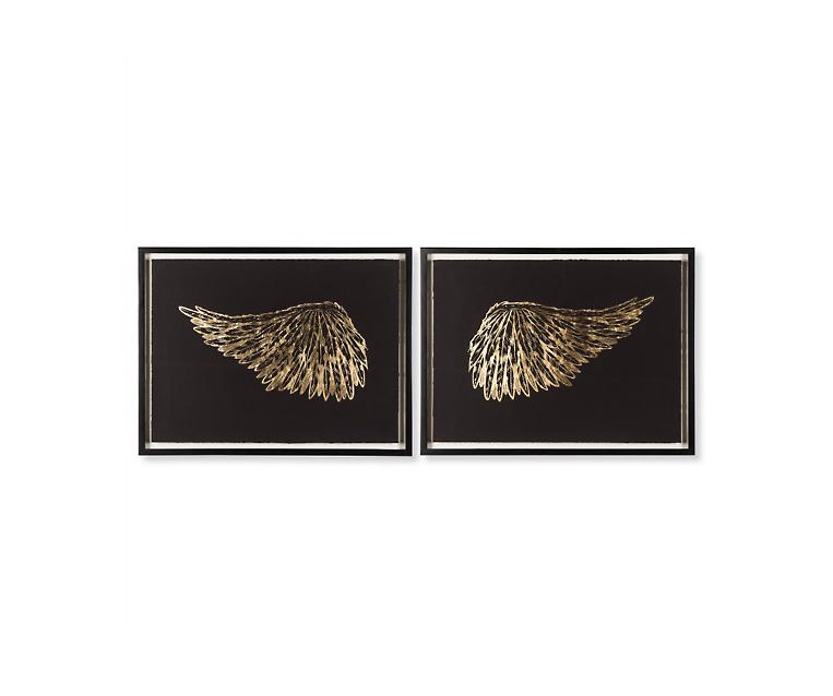 Tranh Gold Wings - Black
