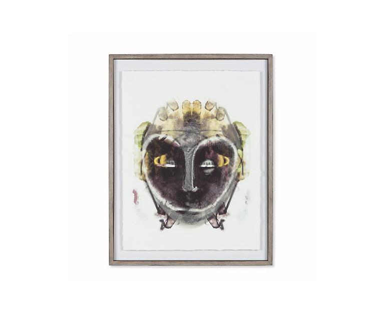 Tranh Imaginary Tribe Mask - C