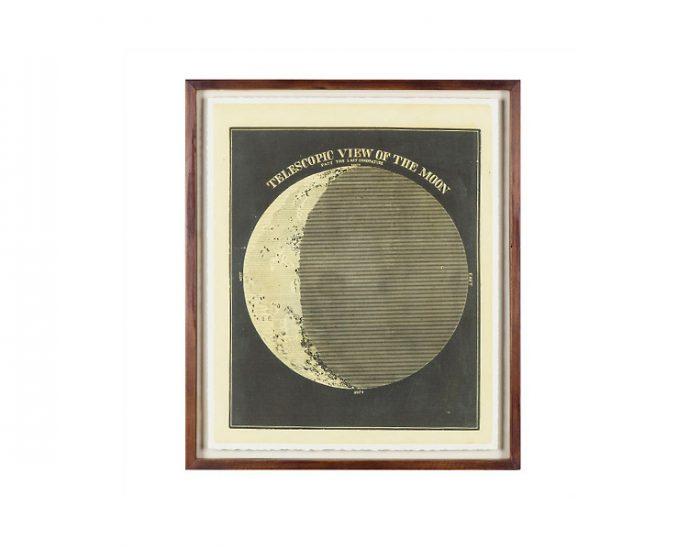 Tranh Telescopic View Of The Moon Circa 1872