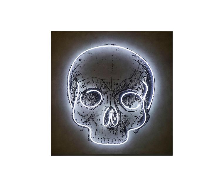 Tranh Neon Skull