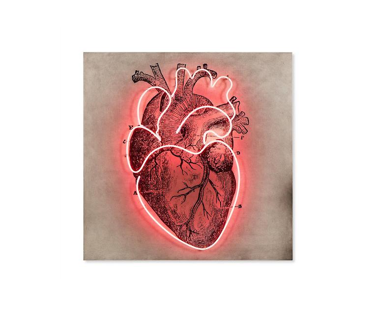 Tranh Neon Heart