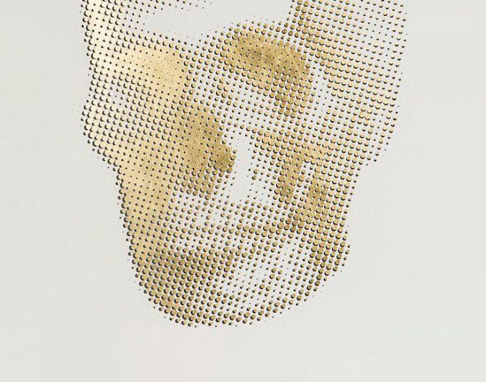 Tranh Gold Skeleton - Skull