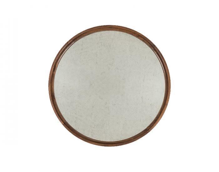 Gương Round Silver Leaf