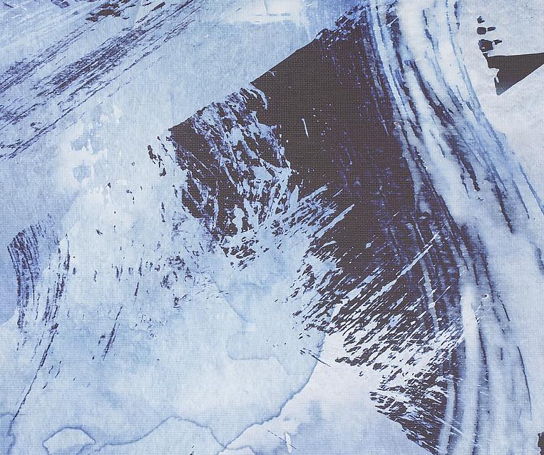 Tranh Indigo Wash Abstract
