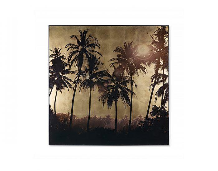 Tranh Gold Leaf Palm Tree Grove