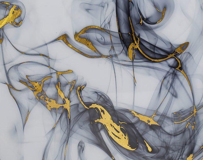 Tranh Gold Leaf Smoke