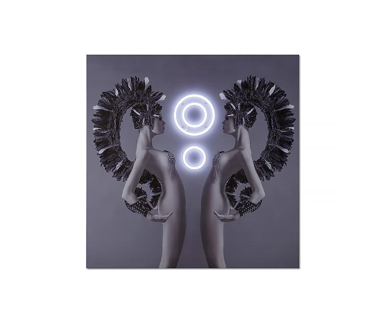 Tranh Medussa White LED Neon